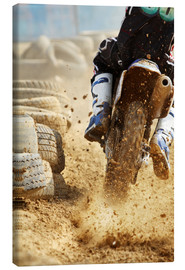 Canvastavla  Motocross bike racing