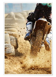 Premiumposter Motocross bike racing
