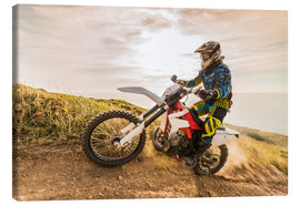 Canvastavla  Enduro rider on the coast