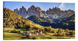 Canvastavla  Funes in the Dolomite Alps in autumn, South Tyrol - Italy - Achim Thomae