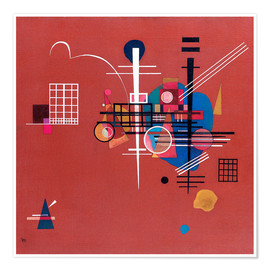 Premiumposter  dull red - Wassily Kandinsky