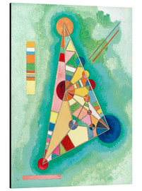 Aluminiumtavla  Variegation in the triangle - Wassily Kandinsky