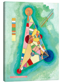 Canvastavla  Variegation in the triangle - Wassily Kandinsky