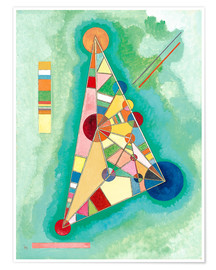 Premiumposter  Variegation in the triangle - Wassily Kandinsky