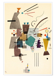 Premiumposter  warmed cold - Wassily Kandinsky