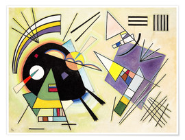 Premiumposter  Black and Violet - Wassily Kandinsky