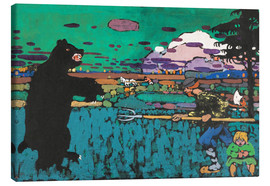 Canvastavla  The Bear - Wassily Kandinsky