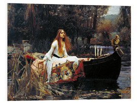 PVC-tavla  The Lady of Shalott - John William Waterhouse