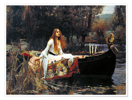 Premiumposter The Lady of Shalott