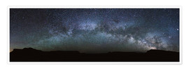 Premiumposter Panoramic of the Milky Way arch, United States