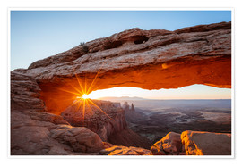 Premiumposter Sunrise at Mesa Arch, Canyonlands National Park, Utah, USA