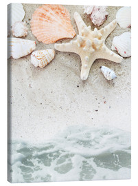 Canvastavla  Sea Beach with starfish