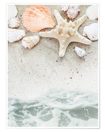 Poster  Sea Beach with starfish