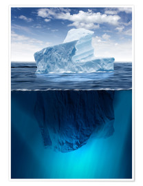 Premiumposter  Iceberg in the ocean