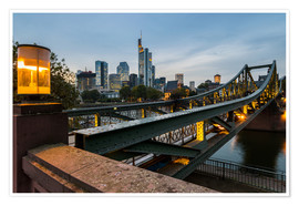 Premiumposter  Frankfurt Iron Bridge - rclassen