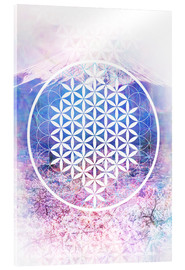 Akrylglastavla  Flower Of Life - Moon Berry Prints