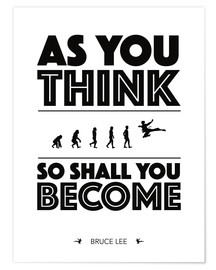 Premiumposter As you think - Bruce Lee