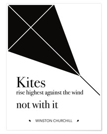 Premiumposter Kites - Winston Churchill