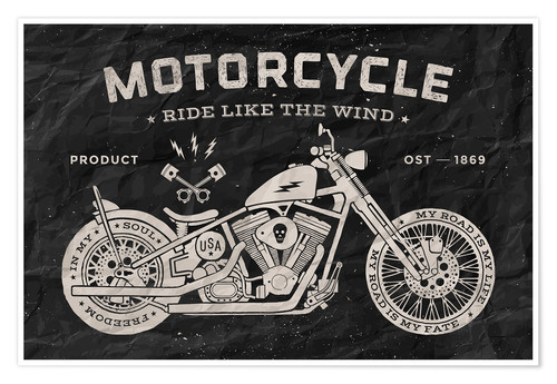 Premiumposter Motorcycle