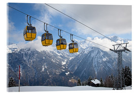 Akrylglastavla  Cable car in the Alps