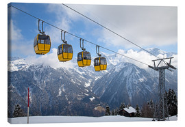 Canvastavla  Cable car in the Alps