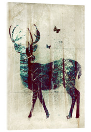 Akrylglastavla  Deer in the Wild - Sybille Sterk
