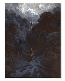 Premiumposter  Sir Lancelot Approaching the Castle of Astolat - Gustave Doré