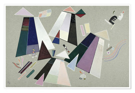 Premiumposter  Untitled (Composition with Grey Background) - Wassily Kandinsky