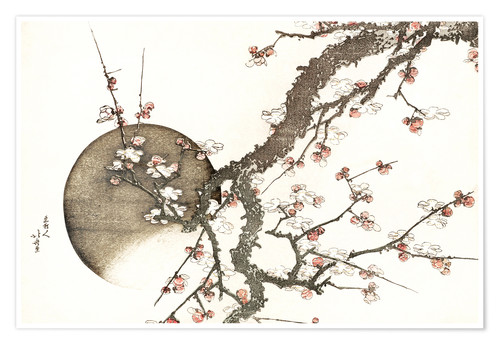 Premiumposter Plum Blossoms and Moon