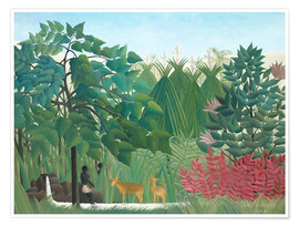 Premiumposter  The waterfall - Henri Rousseau