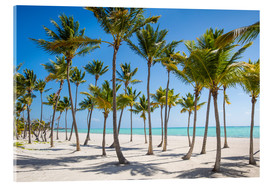 Akrylglastavla  Juanillo Beach, Cap Cana, Punta Cana, Dominican Republic, West Indies, Caribbean, Central America - Jane Sweeney