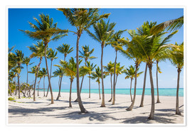 Premiumposter  Juanillo Beach, Cap Cana, Punta Cana, Dominican Republic, West Indies, Caribbean, Central America - Jane Sweeney