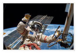 Premiumposter  ISS spacewalk - NASA