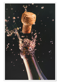 Premiumposter  Champagne bottle and cork - Ktsdesign