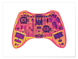 Premiumposter  Computer game controller, X-ray - Gustoimages