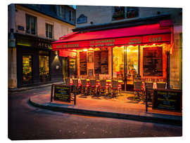 Canvastavla  Parisian cafe, Paris, France, Europe - Jim Nix