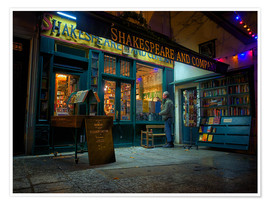 Premiumposter Shakespeare and Company bookstore, Paris, France, Europe