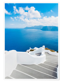 Poster  Stairs on Santorini