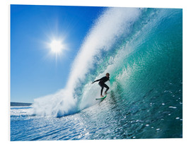 PVC-tavla  Surfer on blue wave