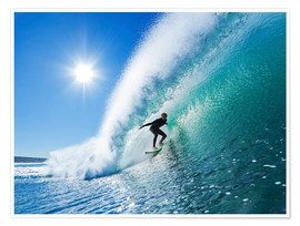 Premiumposter  Surfer on blue wave