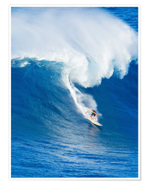 Premiumposter Surfer rides on a wave