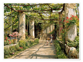 Premiumposter Pergola in Ravello