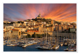 Premiumposter  Marseille sunset - Vincent Xeridat