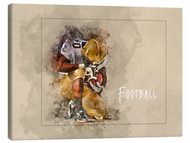 Canvastavla  american football - Peter Roder