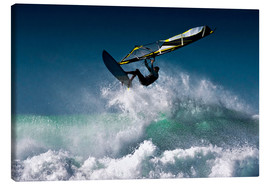 Canvastavla  Windsurfer in the air - Ben Welsh