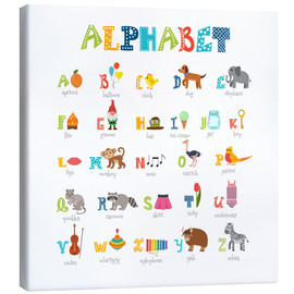 Canvastavla  Cheerful alphabet (English) - Typobox