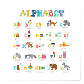 Poster  Cheerful alphabet (English) - Typobox