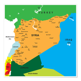 Premiumposter Syria - Map