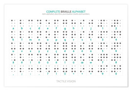 Poster  Braille - Alphabet - Typobox