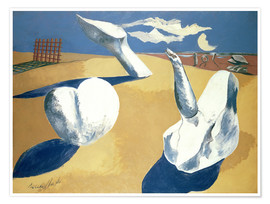 Premiumposter  Stranded figures into the sunset - Paul Nash